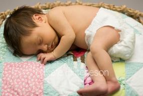 newborn baby asleep in basket Nashville Photography