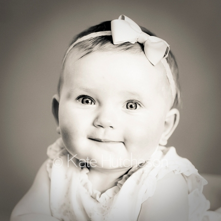 sepia-toned baby picture