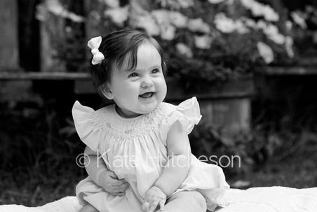 black and white baby photo
