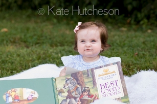baby with book- Nashville baby photographer