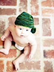 baby in cute knit hat