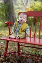 baby yawning portrait