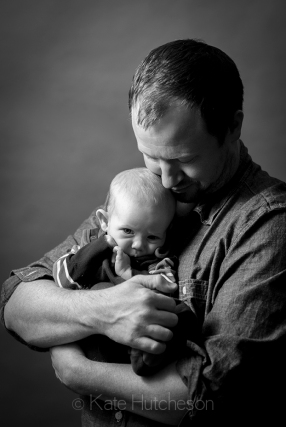 daddy and baby portrait